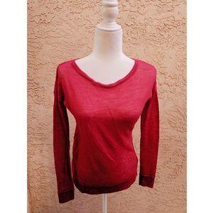 Joie | crepe red alpaca sweater